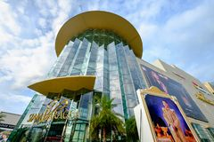 Shoppers visit Siam Paragon mall in Siam Square mall on in Bangkok, Thailand. royalty free stock photos