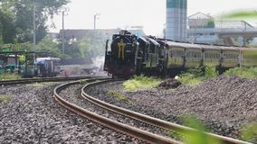 Bangkok, Thailand - Aug 12 : Special steam engine train. Locomotive Pacific 824 and Pacific 850 Special steam engine train stock video