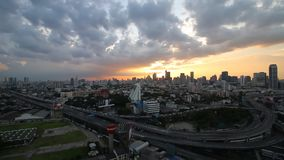 BANGKOK, THAILAND - 19 Aug 2015 - Time lapse view of Bangkok Urban sunset. BANGKOK, THAILAND - 19 Aug 2015 -Time lapse view of Bangkok Urban sunset stock video