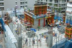 Bangkok/Thailand - 11. August 2018: Arbeiten an der Höhenausrüstung Gerät für Arbeitskraft Arbeitskraft als Hintergrund stockfoto