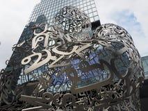 Bangkok Soul 2017 sculpture by artist Jaume Plensa. BANGKOK, THAILAND - AUGUST 4, 2018: Bangkok Soul 2017 sculpture by artist Jaume Plensa representing hope stock photography
