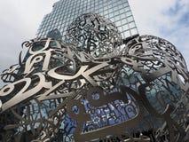 Bangkok Soul 2017 sculpture by artist Jaume Plensa. BANGKOK, THAILAND - AUGUST 4, 2018: Bangkok Soul 2017 sculpture by artist Jaume Plensa representing hope stock photo