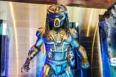 Beautiful Standee of Movie Predator displays at the theater royalty free stock image