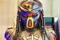 Beautiful Standee of Movie Predator displays at the theater stock photos