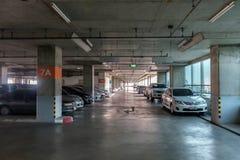 Big car park interior Royalty Free Stock Photo