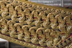 Bangkok, Thailand - 12. August 2017: Bug des königlichen Lastkahnes Anechatbhuchong im Nationalmuseum, Bangkok, Lizenzfreie Stockfotos