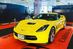 BANGKOK THAILAND - AUGUST 23 2014: Chevrolet Corvette Z06 2015 at Big Motor Sale, Bitec Bangna, Bangkok Thailand. Stock Image