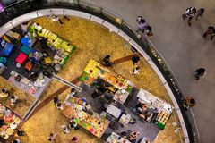 BANGKOK, THAILAND - AUGUST 26: Food fare for traditional local food and snacks takes place in Terminal 21 Shopping mall in Bangkok stock photos