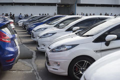 Bangkok, Thailand : August 31, 2016 - ford's car user in thailand get a flash mob at Nang Leang Racecourse Royalty Free Stock Image