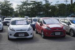 Bangkok, Thailand : August 31, 2016 - ford's car user in thailand get a flash mob at Nang Leang Racecourse Royalty Free Stock Photo