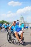 BANGKOK THAILAND : AUGUST16 : handicap man joint  in Royalty Free Stock Image