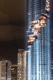 BANGKOK, Thailand am 28. August: Helle Show an Mahanakhon-Gebäude von Thailands höchstem Gebäude am 28. August 2016 in Bangkok Stockbild