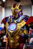 Iron man, Marvel super heroes stand for promote movie at Bangkok, Thailand. Bangkok, Thailand. - August 28, 2017 : Iron man, Marvel super heroes stand for royalty free stock photos