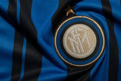 BANGKOK, THAILAND - AUGUST 5: The Logo of  Inter Milan Football Stock Images