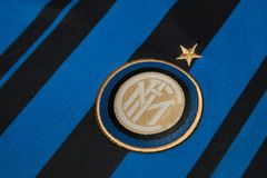 BANGKOK, THAILAND - AUGUST 5: The Logo of  Inter Milan Football Royalty Free Stock Images