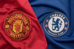 BANGKOK, THAILAND - AUGUST 5: The Logo of Manchester United and