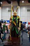 Loki, Marvel super heroes stand for promote movie at Bangkok, Thailand. Bangkok, Thailand. - August 28, 2017 : Loki, Marvel super heroes stand for promote movie royalty free stock photo