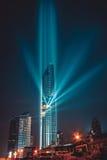 BANGKOK, THAILAND - 28. AUGUST 2016: Neues modernes Gebäude Bangkoks findet im Geschäftsbereich, Mahanakhon-Turm, das höchste Geb stockbild