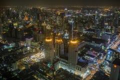 Bangkok thailand - august21,2018 : night scene of bangkok skylin Stock Photography