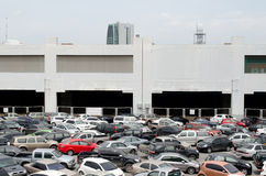 BANGKOK, THAILAND - AUGUST 04: parking lot in front of Chatuchak Royalty Free Stock Photography