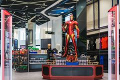 Bangkok, Thailand - August 11, 2018. - Shop at The marvel experience superstore in Bangkok Thailand. The marvel experience super stock photo