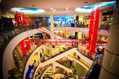 BANGKOK, THAILAND. 3 AUGUST 2014 The shopping mall Stock Images