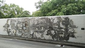 BANGKOK, THAILAND - AUGUST 04, 2018 :Street Art in front of the Stock Image