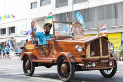 BANGKOK THAILAND : AUGUST16 : thai - indian people driving old c Stock Image