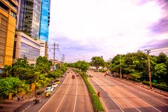 BANGKOK, THAILAND, 4 AUGUST 2014, Traffic on a Royalty Free Stock Images