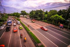 BANGKOK, THAILAND, 4 AUGUST 2014, Traffic on a Royalty Free Stock Photos