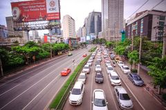 BANGKOK, THAILAND, 4 AUGUST 2014, Traffic on a Stock Photos