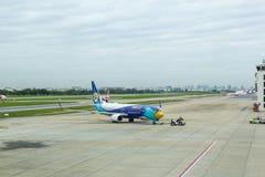 Bangkok THAILAND - Augusti 04 2017: Don Muang Airport lufttraf Arkivfoton