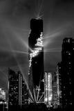 Bangkok, Thailand 29 Augustus, 2016: Het licht en het geluid tonen van Stock Foto's
