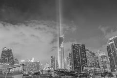 Bangkok, Thailand 29 Augustus, 2016: Nightlight van Bangkok ci Royalty-vrije Stock Afbeelding