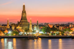 Bangkok, Thailand. Bankok,Thailand.Wat Arun temple at sunset royalty free stock photography