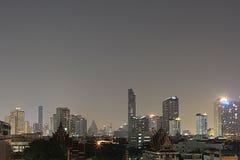 BANGKOK, THAILAND Beautiful panorama view of nightlife of Bangkok city and buildings. BANGKOK, THAILAND - April 15, 2018: Beautiful panorama view of nightlife of Stock Photography