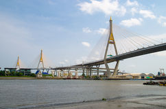 Bangkok, Thailand :  Bhumibol Bridge Stock Photos