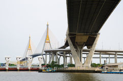 Bangkok, Thailand :  Bhumibol Bridge Stock Photo