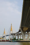 Bangkok, Thailand :  Bhumibol Bridge Royalty Free Stock Images
