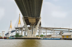 Bangkok, Thailand :  Bhumibol Bridge Royalty Free Stock Photo