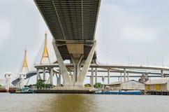 Bangkok, Thailand :  Bhumibol Bridge Royalty Free Stock Photo