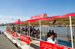 Bangkok, Thailand : Boat docking at pier Stock Images