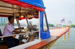 Bangkok, Thailand : Boat driver Stock Photo