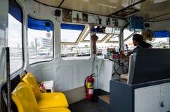 Bangkok, Thailand : Boat driver Royalty Free Stock Photos