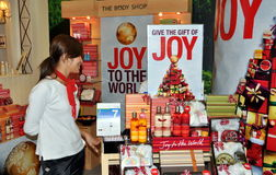 Bangkok, Thailand: Body Shop Display Royalty Free Stock Photography