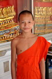 Bangkok, Thailand: Boy Monk at Thai Temple Royalty Free Stock Images