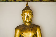 Bangkok, Thailand brengt 29, 2016 in de war Gouden Boedha Boedha op witte achtergrond Stock Fotografie