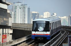 Bangkok, Thailand: BTS Sky Train Royalty Free Stock Photography