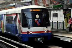 Bangkok, Thailand: BTS Skytrain Royalty Free Stock Photo