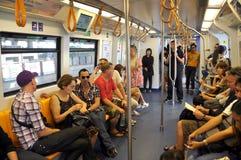 Bangkok, Thailand: BTS Skytrain Interior Stock Images